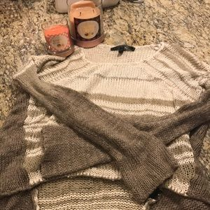 Brown knit sweater